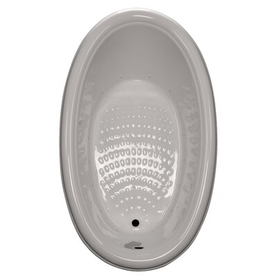69 x 41 Drop-In Air Tub Finish: Biscuit, Drain Location: Right