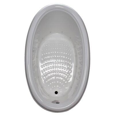 69 x 41 Drop-In Air Tub Finish: White, Drain Location: Left