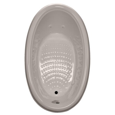 69 x 41 Drop-In Salon Spa Air/Whirlpool Tub Finish: Bone, Drain Location: Right