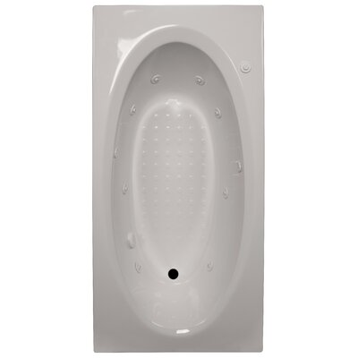72 x 36 Whirlpool Tub Finish: Biscuit, Drain Location: Right