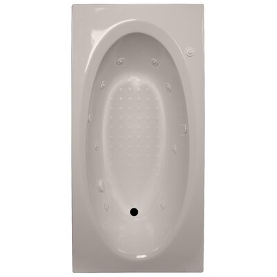 72 x 36 Whirlpool Tub Finish: Bone, Drain Location: Right