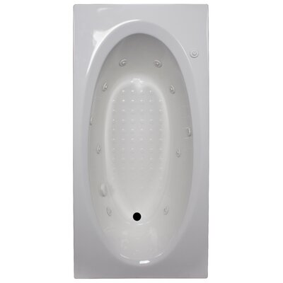 72 x 36 Whirlpool Tub Finish: White, Drain Location: Right