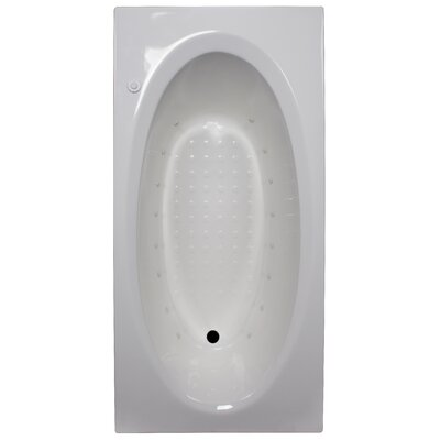 72 x 36 Air Tub Finish: White, Drain Location: Right