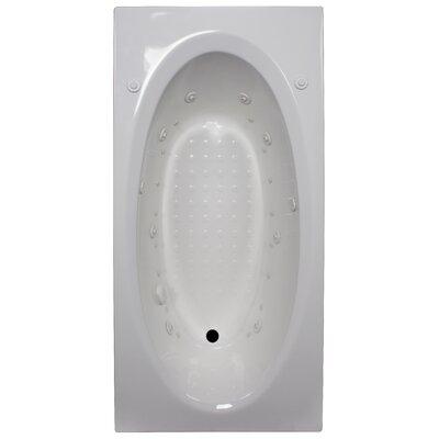 72 x 36 Salon Spa Soaking Tub Finish: White, Drain Location: Left