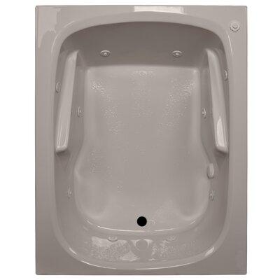 60 x 48 Arm-Rest Soaking Tub Finish: Bone, Drain Location: Left
