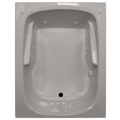 60 x 48 Arm-Rest Salon Spa Soaking Tub Finish: Biscuit, Drain Location: Right