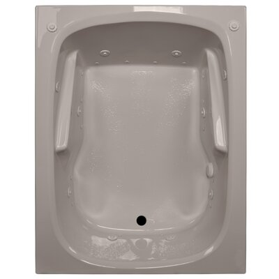 60 x 48 Arm-Rest Salon Spa Soaking Tub Finish: Bone, Drain Location: Right