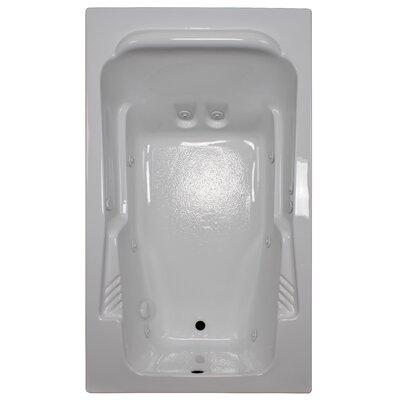 71 x 41 Arm-Rest Soaking Tub Finish: White, Drain Location: Left
