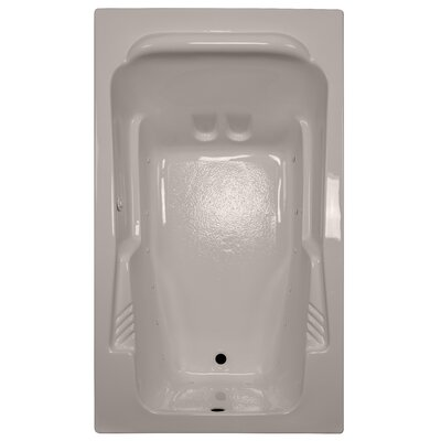 71 x 41 Arm-Rest Soaking Tub Finish: Bone, Drain Location: Left
