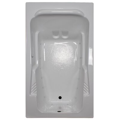 71 x 41 Arm-Rest Soaking Tub Finish: White, Drain Location: Right