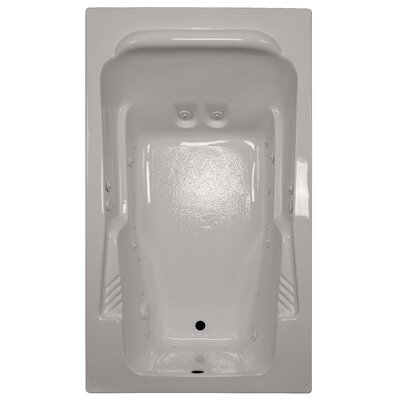 71 x 41 Arm-Rest Salon Spa Soaking Tub Finish: Biscuit, Drain Location: Right