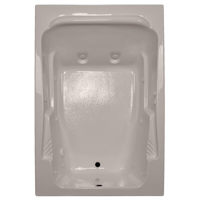 72 x 48 Arm-Rest Soaking Tub Finish: Bone, Drain Location: Right