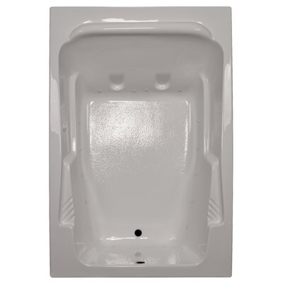 72 x 48 Arm-Rest Soaking Tub Finish: Biscuit, Drain Location: Left