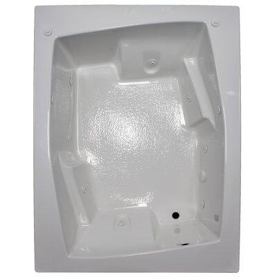 72 x 54 Arm-Rest Soaking Tub Finish: White, Drain Location: Right