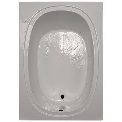 60 x 42 Massage Soaking Tub Finish: Biscuit, Drain Location: Right