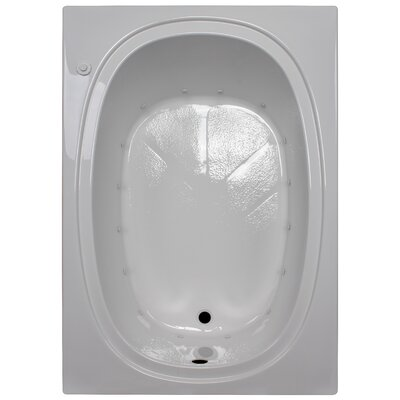60 x 42 Massage Soaking Tub Finish: White, Drain Location: Left
