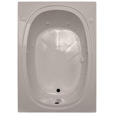 60 x 42 Salon Spa Soaking Tub Finish: Bone, Drain Location: Right