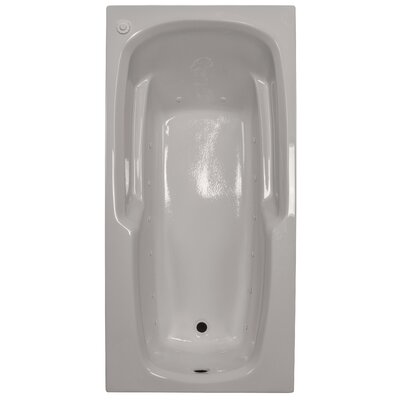 66 x 32 Massage Arm-Rest Soaking Tub Finish: Biscuit, Drain Location: Left