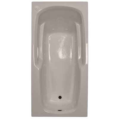66 x 32 Massage Arm-Rest Soaking Tub Finish: Bone, Drain Location: Left
