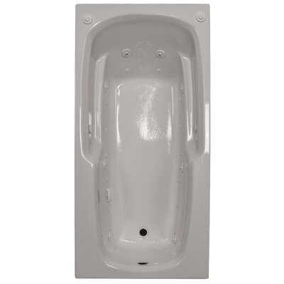 66 x 32 Massage Arm-Rest Salon Spa Soaking Tub Finish: Biscuit, Drain Location: Left