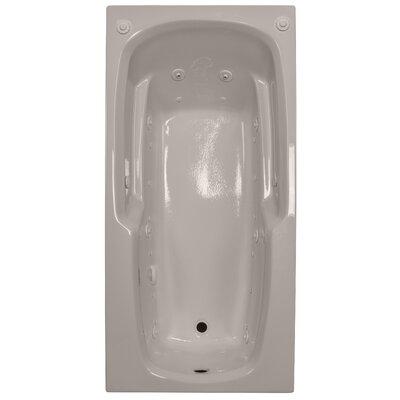 66 x 32 Massage Arm-Rest Salon Spa Soaking Tub Finish: Bone, Drain Location: Left