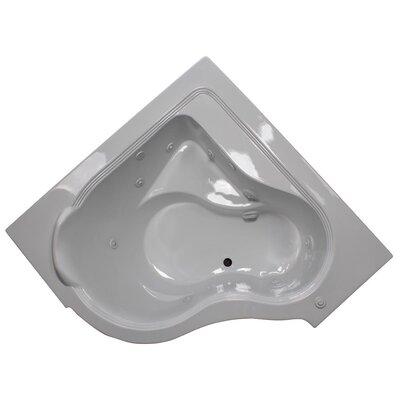 60 x 60 Whirlpool Bathtub Finish: White, Motor Location: Right