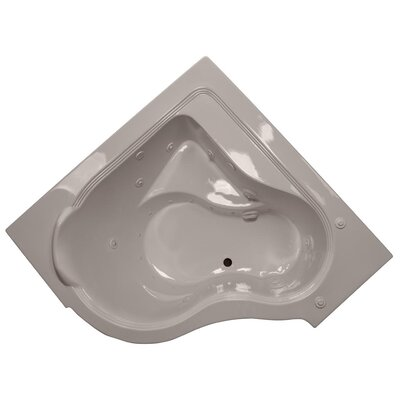 60 x 60 Air / Whirlpool Bathtubub Finish: Bone, Motor Location: Left