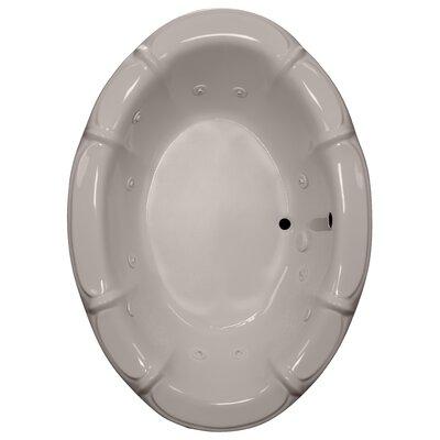 68 x 48 Whirlpool bathtub Finish: Bone, Motor Location: Left