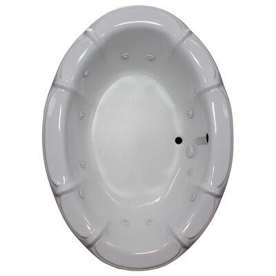 68 x 48 Whirlpool bathtub Finish: White, Motor Location: Left