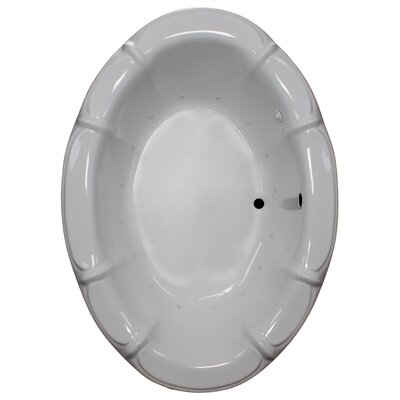 68 x 48 Air Bathtub Finish: White, Motor Location: Right