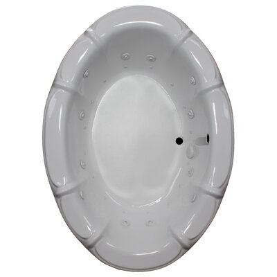 68 x 48 Air / Whirlpool Bathtubub Finish: White, Motor Location: Left