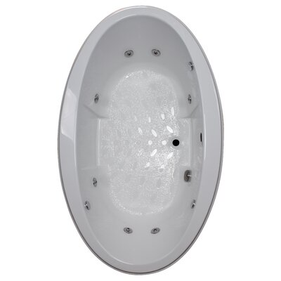 72 x 45 Drop-In Whirlpool Tub Finish: White, Motor Location: Left