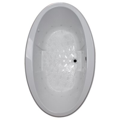 72 x 45 Drop-In Air Tub Finish: White, Motor Location: Left