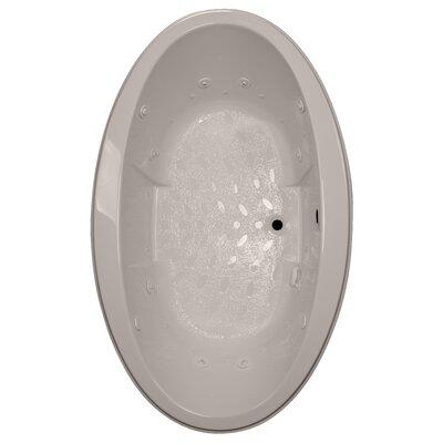 72 x 45 Drop-In Salon Spa Air/Whirlpool Tub Finish: Bone, Motor Location: Right