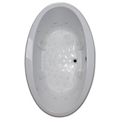 72 x 45 Drop-In Salon Spa Air/Whirlpool Tub Finish: White, Motor Location: Right