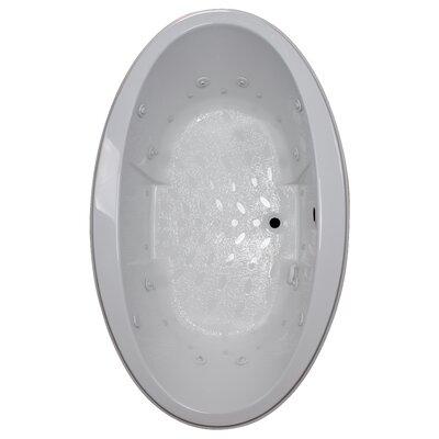 72 x 45 Drop-In Salon Spa Air/Whirlpool Tub Finish: White, Motor Location: Right