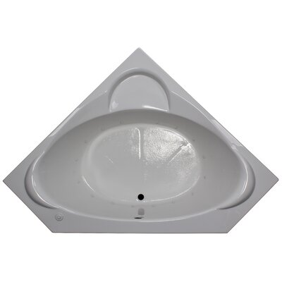 60 x 60 Corner Air Tub Finish: White, Motor Location: Right