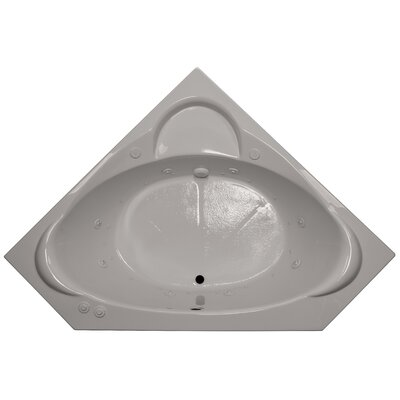 60 x 60 Corner Salon Spa Air/Whirlpool Tub Finish: Biscuit, Motor Location: Left