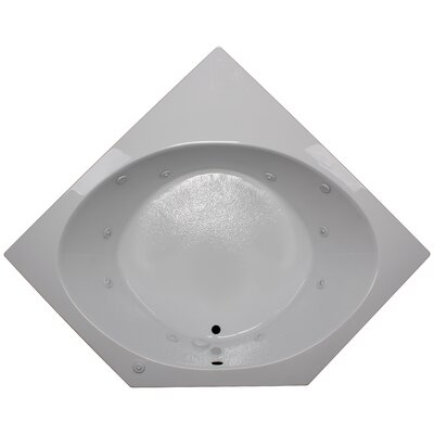 60 x 60 Corner Whirlpool Tub Finish: White, Motor Location: Right