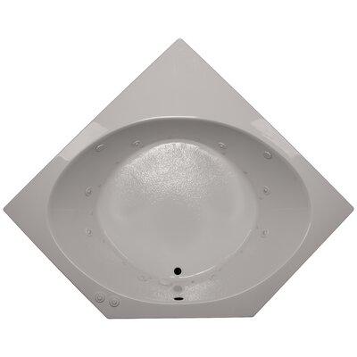 60 x 60 Corner Salon Spa Air/Whirlpool Tub Finish: Biscuit, Motor Location: Left