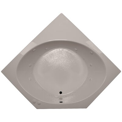 60 x 60 Corner Salon Spa Air/Whirlpool Tub Finish: Bone, Motor Location: Left