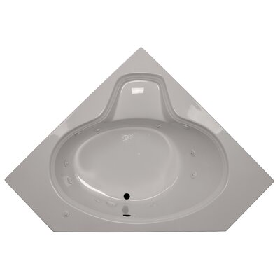 60 x 60 Corner Oval Whirlpool Tub Finish: Biscuit, Motor Location: Left