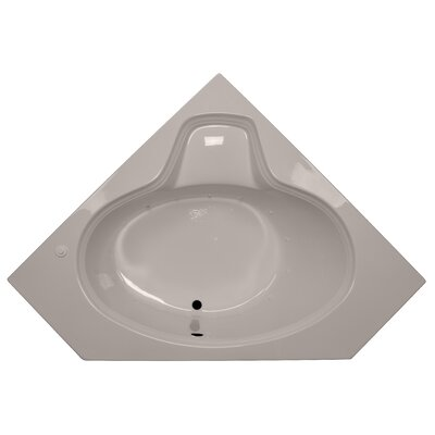60 x 60 Corner Oval Air Tub Finish: Bone, Motor Location: Left