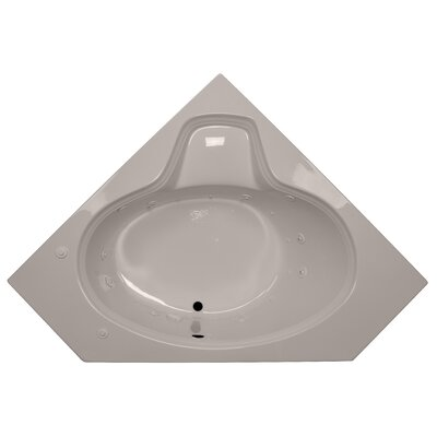 60 x 60 Corner Oval Salon Spa Air/Whirlpool Tub Finish: Bone, Motor Location: Left