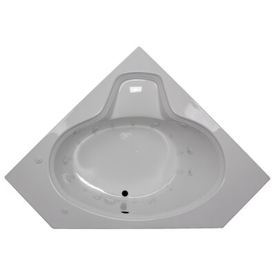 60 x 60 Corner Oval Salon Spa Air/Whirlpool Tub Finish: White, Motor Location: Right