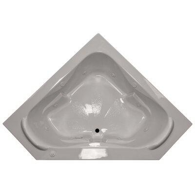 60 x 60 Corner Whirlpool Tub with Raised Headrest Finish: Biscuit, Motor Location: Right