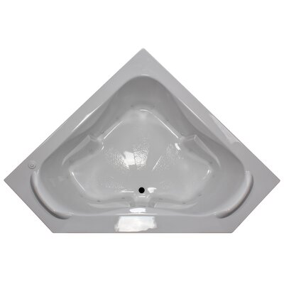 60 x 60 Corner Air Tub with Raised Headrest Finish: White, Motor Location: Left