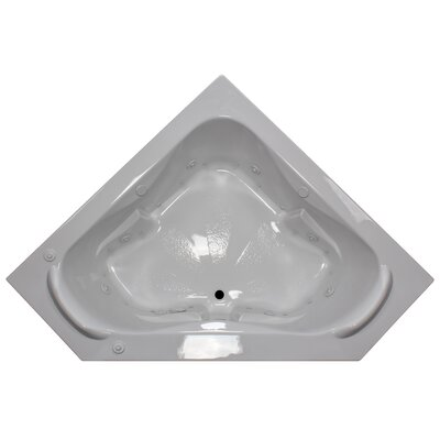 60 x 60 Corner Salon Spa Air/Whirlpool Tub with Raised Headrest Finish: White, Motor Location: Right