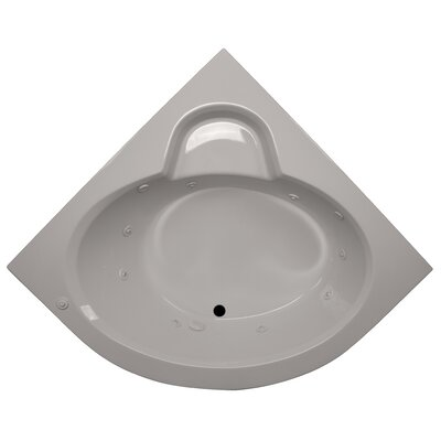 60 x 60 Round Front Corner Soaking Tub Finish: Biscuit, Motor Location: Left