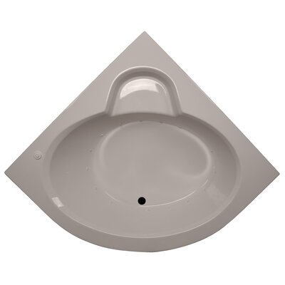 60 x 60 Round Front Corner Soaking Tub Finish: Bone, Motor Location: Left